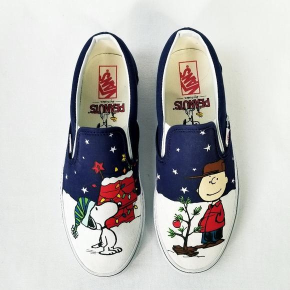 Christmas Vans Peanuts 2020 Vans Shoes   Peanuts Sneakers 10 Charlie Brown Christmas   Poshmark